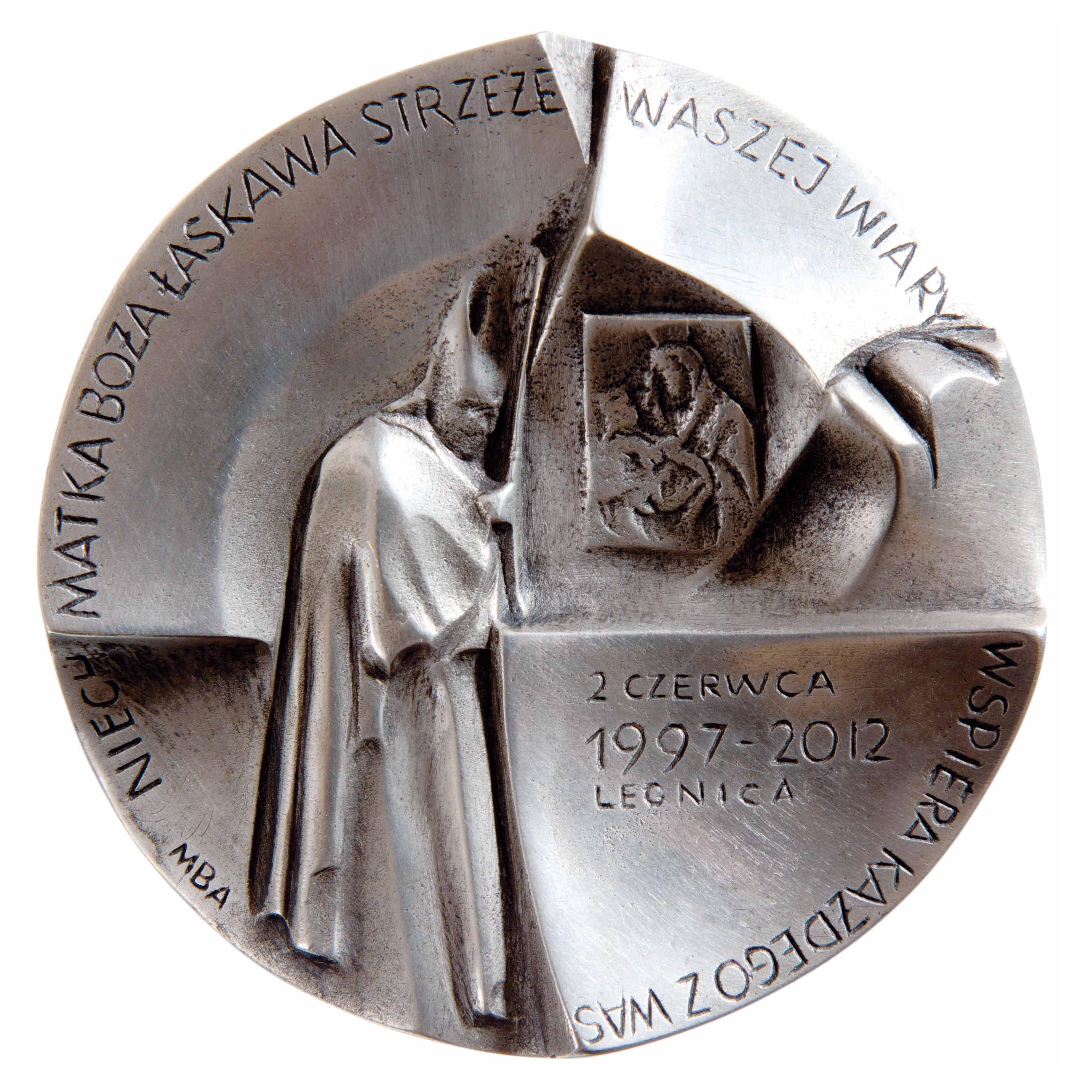 Magdalena Dobrucka, medal dwustronny (awers), lany, srebro, Φ 85 mm, 2012 r.