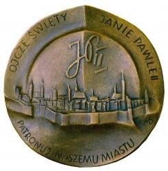 Magdalena Dobrucka, medal dwustronny (rewers), lany, srebro, Φ...