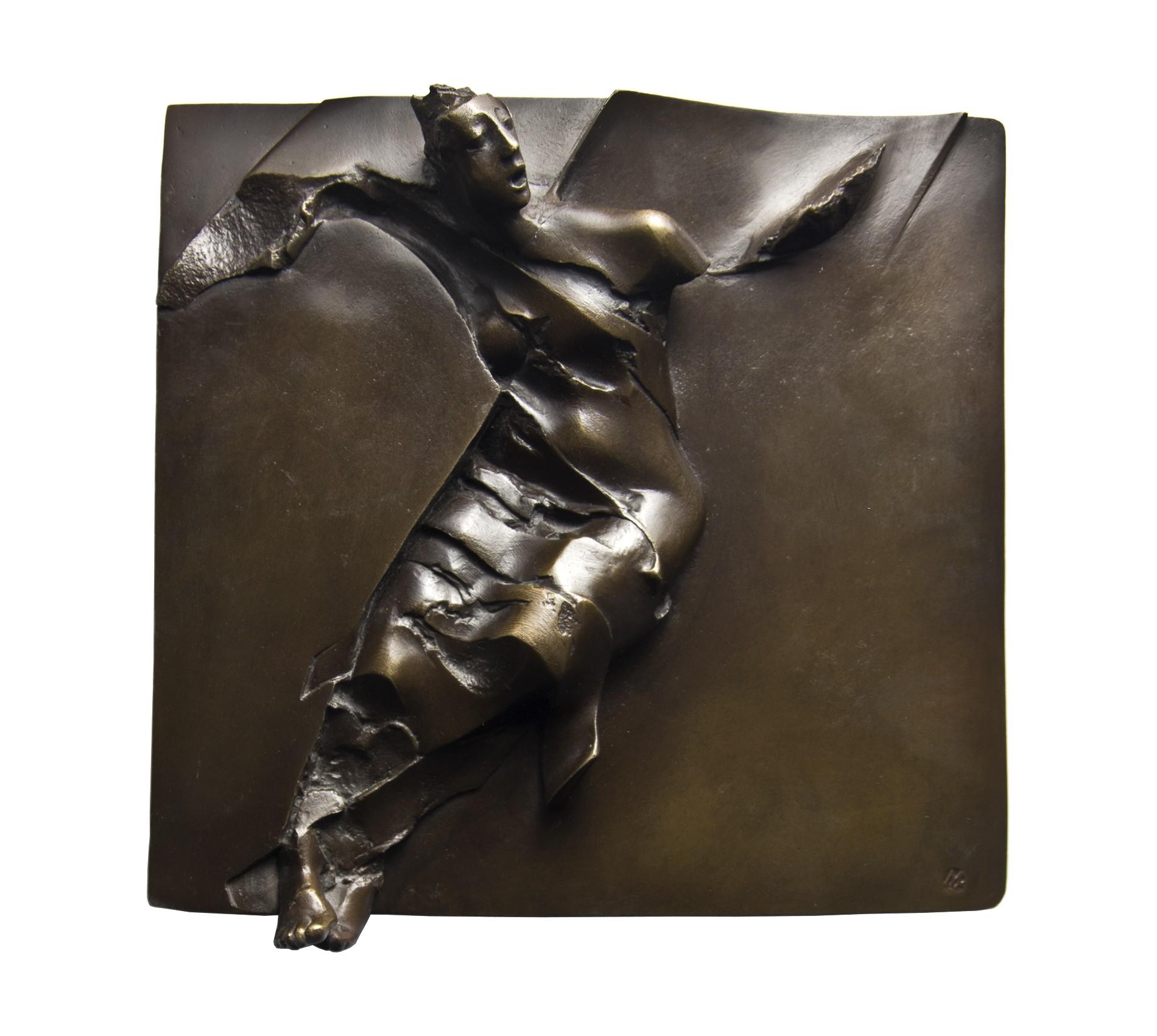 Krzyk anioła, 2010, brąz 23x23