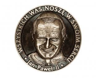 """Henryk Kułak - """"Wszystkich was noszę w swoim sercu"""" (awers), brąz..."""