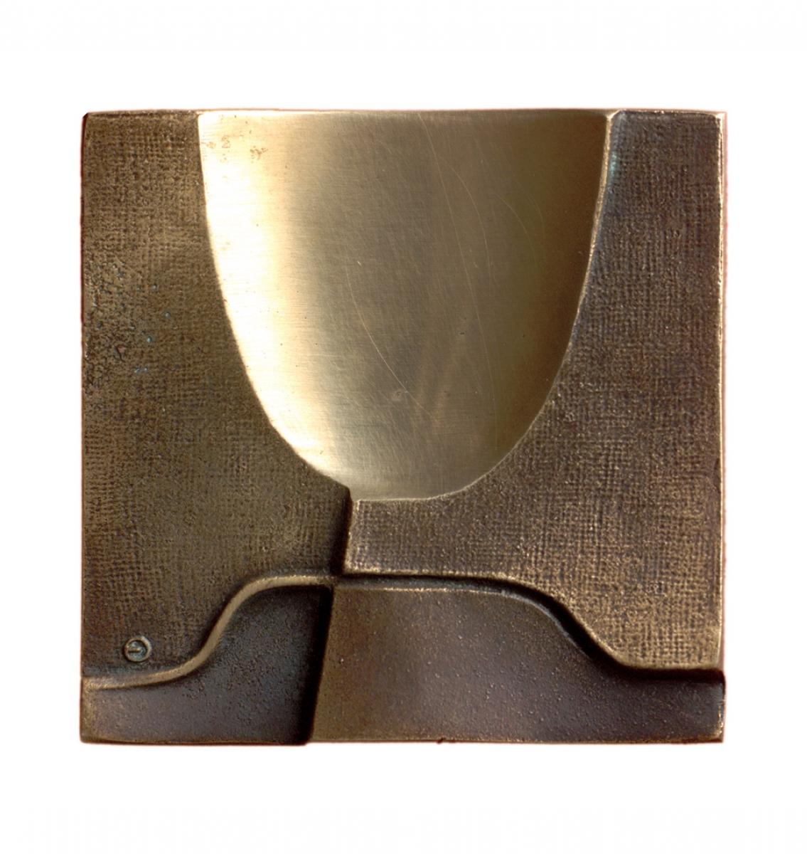 Biennale Sztuki Sakralnej, brąz lany, 75 x 76 mm, 1998, rewers