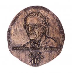 Wanda Błeńska – lekarz trędowatych (awers), brąz, 15,7 x 14,8 cm, 2001