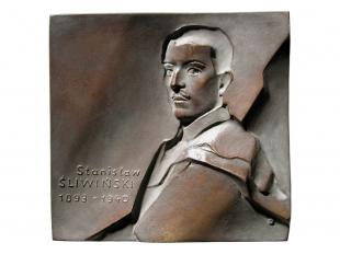 Stanisław Śliwiński, brąz lany, 104 x 100 mm, 1988, awers