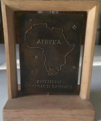 Łęski Paweł - Nelson Mandela (rewers), mosiądz, 10x14 cm, 2016