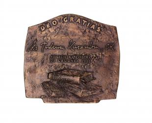DEO GRATIAS (rewers), brąz, 14,6 x 15,6 cm, 2000