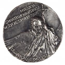 Zygmunt Brachmański, medal dwustronny (awers), lany, srebro, Φ 85...