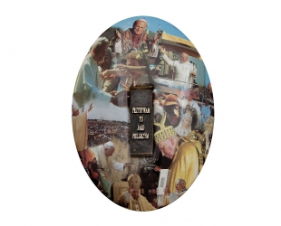 """Józef Polewka - """"Mój medalik"""" (awers), ceramika z użyciem..."""