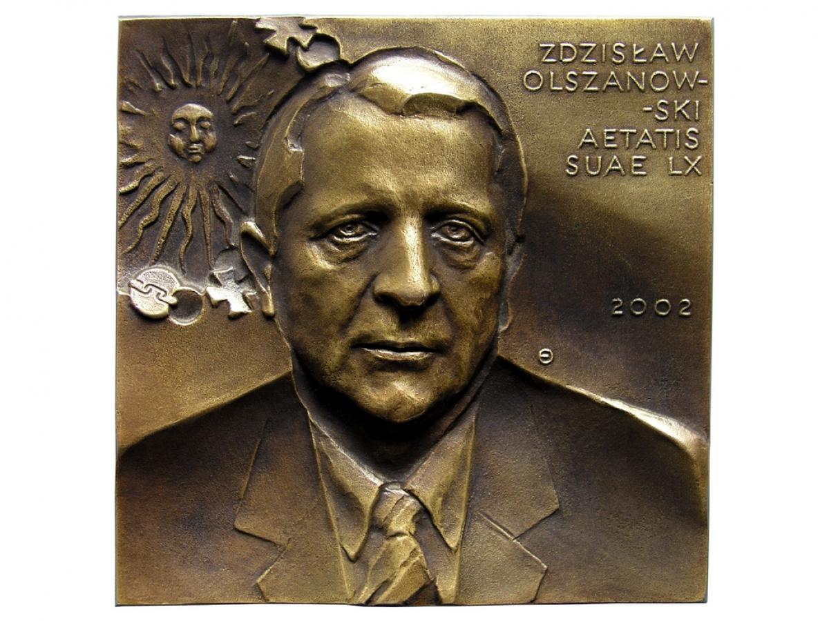 Zdzisław Olszanowski, brąz lany, 112 x 112 mm, 2002