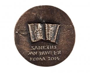 """Zygmunt Brachmański - """"Jan Paweł II - Święty"""" (rewers), brąz..."""