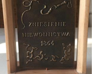 Łęski Paweł - Abraham Lincoln (rewers), mosiądz, 10x14 cm, 2016