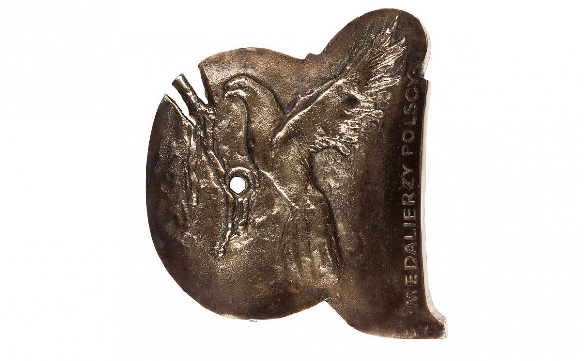 """Jerzy Grygorczuk - """"Jan Paweł II"""" (rewers), brąz patynowany, 125 x 130 mm"""