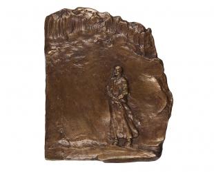 """Ewa Ross-Baczyńska - """"Zdumienie"""" (rewers), brąz patynowany, 130 x..."""