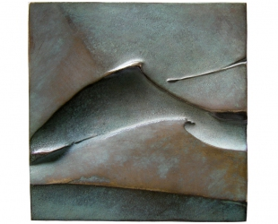 Joseph Conrad, brąz lany, 100 x 100 mm, 1994, rewers