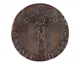 """Czesław Jałowiecki - """"Krzyż na Giewoncie"""" (rewers), brąz..."""