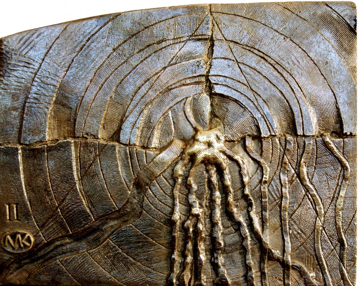 Kulpa Mariusz - Tryptyk rzymski JPII - ''Źródło'' - II-XIV, brąz, 20x16 cm, 2011