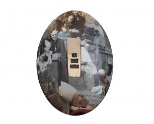 "Józef Polewka - ""Mój medalik"" (rewers), ceramika z użyciem..."