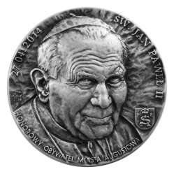 Tadeusz Tchórzewski - Święty Jan Paweł II (awers), tombak , 6 cm, 2014