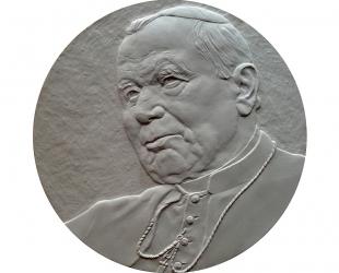 """Robert Kotowicz - """"Mój Jan Paweł II"""" (awers), brąz patynowany, Φ..."""