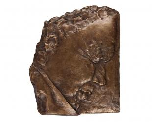 """Ewa Ross-Baczyńska - """"Zdumienie"""" (awers), brąz patynowany, 130 x..."""