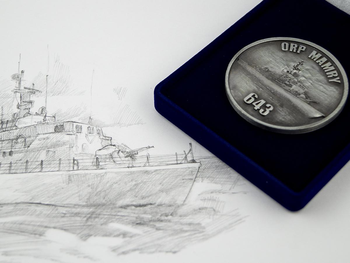Medal okolicznościowy ORP Mamry