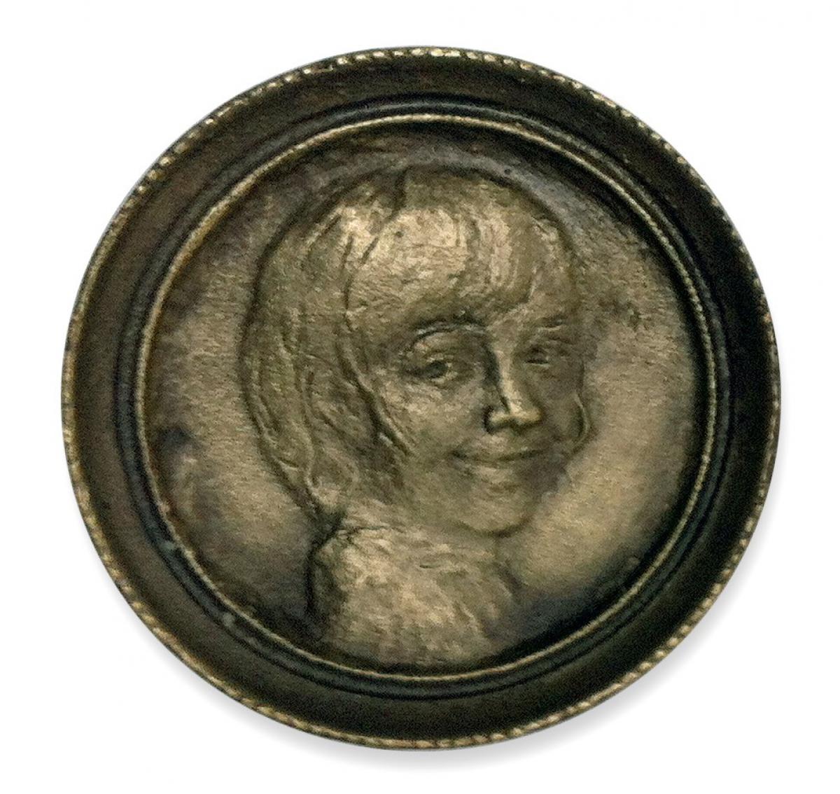 Śmiejący się Aleksander, OPUS 1723, brąz, Φ 7 cm, 2001