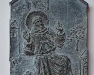 Z cyklu Legenda aurea - St. Francesco, cynk, 8,5 x 13 cm, 2013