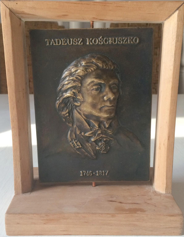 Łęski Paweł - Tadeusz Kościuszko (awers), mosiądz, 10x14 cm, 2016