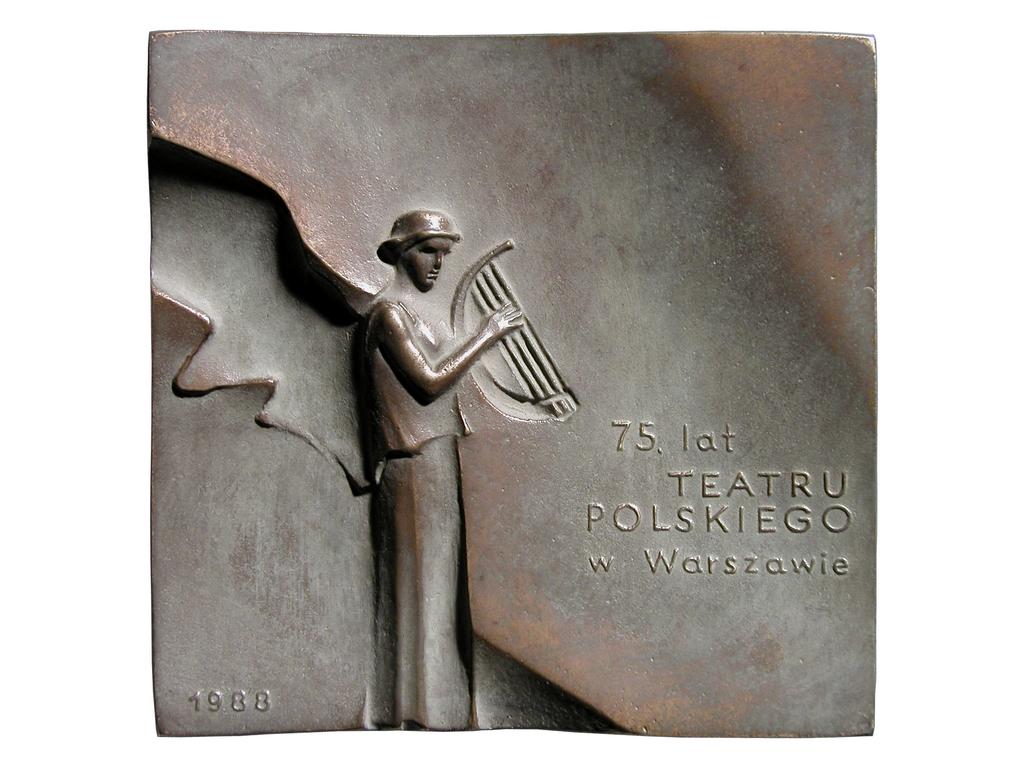 Stanisław Śliwiński, brąz lany, 104 x 100 mm, 1988, rewers